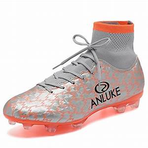 Anluke Menu002639s Athletic Hightop Cleats Soccer Shoes Football