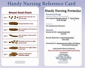 Charting Messages Nursing Calculation Bristol Stool Chart Pvc Lanyard