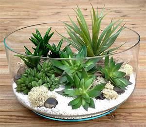 Mini Plante Artificielle : terrarium plantes grasses artificielles h13 d26 brice tillandsia pinterest terrarium et ~ Teatrodelosmanantiales.com Idées de Décoration