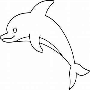 Dolphin clipart black and white - Pencil and in color ...