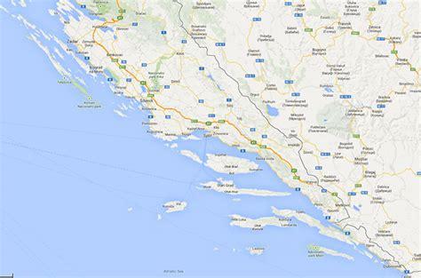Kroatien Sandstrand Karte