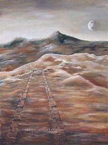 Land Rover Tracks of Mars Painting | Teresa Bernard Oil ...