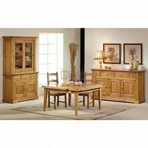 salle a manger complete chene massif de france ou merisier With meuble de salle a manger avec salle a manger merisier