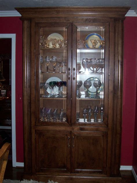 Handmade Curio Cabinet by Unique Wood Works