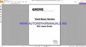 Grove Crane Rcl Users Guide Tard Boss Series Operator U0026 39 S