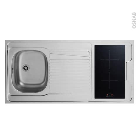 bloc 233 vier pour kitchenette plaque de cuisson induction l120 x p60 cm sokleo oskab
