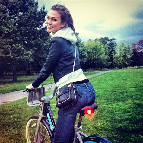 Karlie Kloss Took Relaxing Bike Ride Candids See