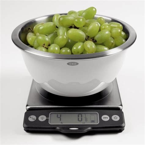 oxo good grips lb food scale  pull  display