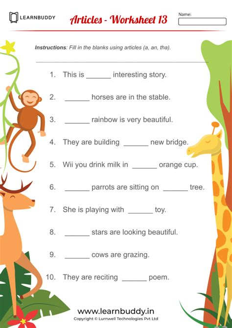 english worksheets  class  adverbs articles modals