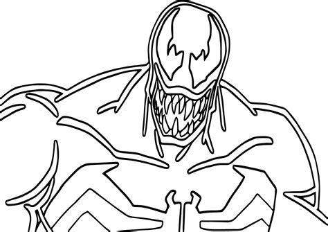 venom face drawing  getdrawings