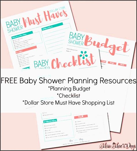Baby Shower Planner Template by 9 Free Baby Shower Planner Template Sletemplatess