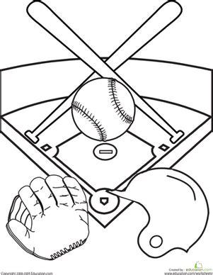 color  baseball diamond worksheet educationcom