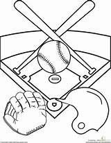Baseball Diamond Worksheet Sports Coloring Pages Field Education Kindergarten Printable Activities Fun Sheets Worksheets Drawing Template Party Stadium Printables Summer sketch template