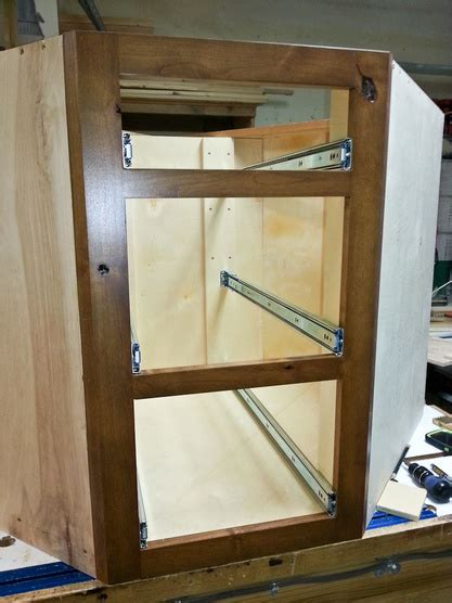 installing full extension drawer  woodworking talk
