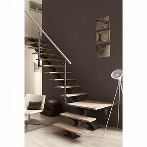 Escalier Double Quart Tournant Pas Cher : escalier quart tournant mona structure aluminium marche ~ Premium-room.com Idées de Décoration