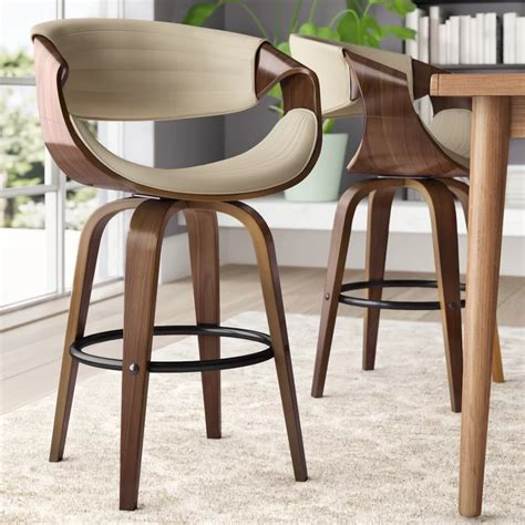 """They are simple but in great design;. Zigler 26"""" Swivel Bar Stool in 2020   Bar stools, Swivel ..."""