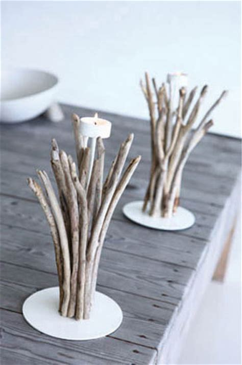 eco friendly table decorations  centerpieces driftwood
