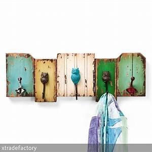 Wandgarderobe Selber Machen : wundersch ne garderobenleiste im shabby chic mit cooler eulen deko 5 haken f r perfekte ordnung ~ Markanthonyermac.com Haus und Dekorationen