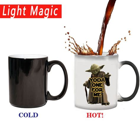 Yoda best boss in the galaxy funny ceramic coffee mug looking. yoda one for me mug magice coffee mugs 350ml color changing mug best gift for your boy friend or ...