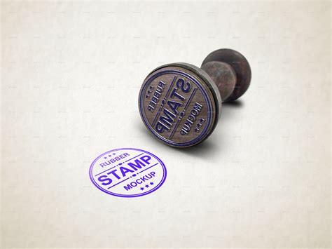 rubber stamp mockup  graphicdesigno graphicriver