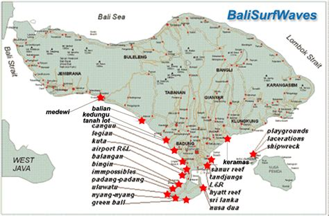 bali surf maps bali surf waves