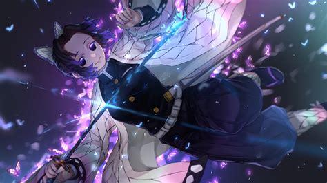 Anime kimetsu no yaiba demon slayer wallpapers for android apk. Demon Slayer Shinobu Kochou With Sword And Flying ...