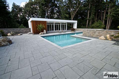 contemporary paver pool deck contemporary pool