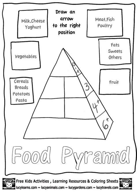 food pyramid printables  kids food guide pyramid worksheetlucys food pyramid worksheets