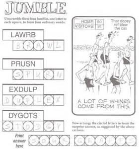 Word Jumble Puzzles