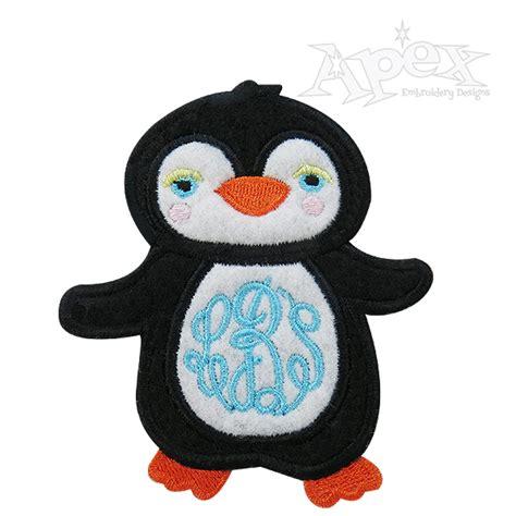 Penguin Applique by Penguin Applique Frame Embroidery Design