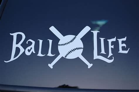 ball life baseball vinyl sticker decal  softball