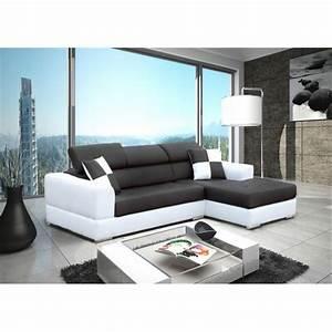 Canapé Blanc Et Noir : canap d angle blanc et noir royal sofa id e de canap et meuble maison ~ Teatrodelosmanantiales.com Idées de Décoration