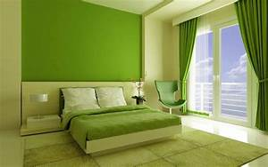Bedroom, Interior, Design, Green, Bedroom, U2013, House, Interior