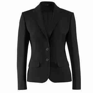 Blazer Femme Noir : blazer femme noir coupe droite classique confortable ~ Preciouscoupons.com Idées de Décoration