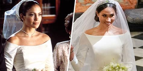 meghan markles dress looked  jlos   wedding