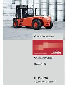 Linde Forklift Truck H1402 Series  H180  H200  H220  H