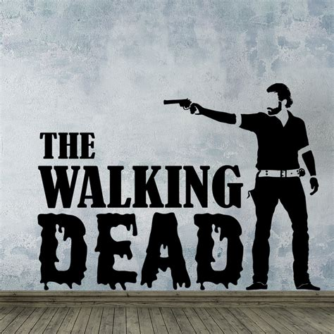stickers muraux heros wall decal best 20 the walking dead wall decals dead stickers walking dead stickers walking