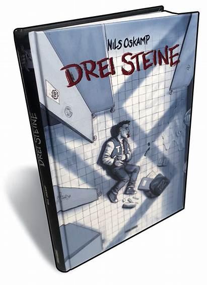 Novel Graphic Drei Steine Handsigniert Zeichnung