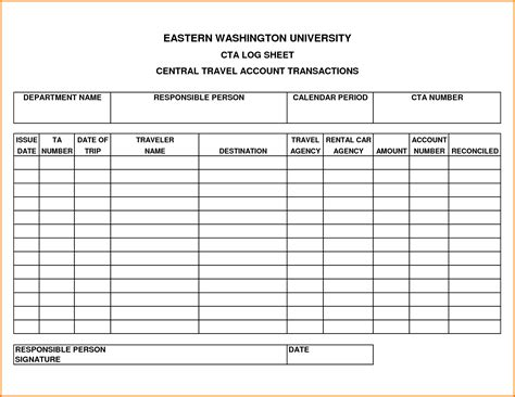 travel log template authorization letter