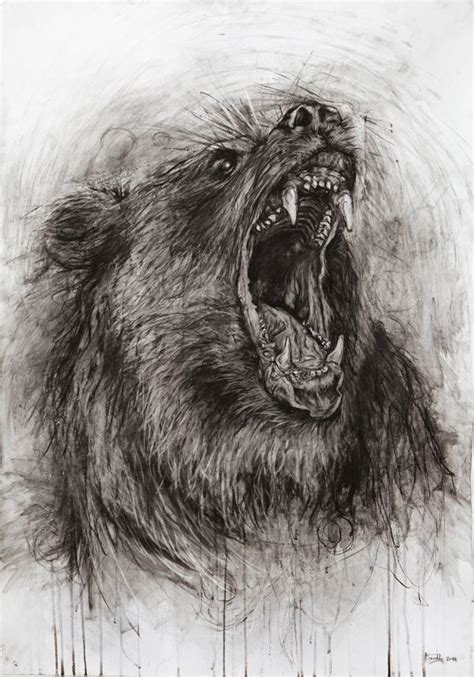 animals charcoal drawing  behance   spell