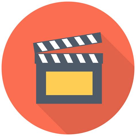 clapper icon  flat multimedia iconset designbolts