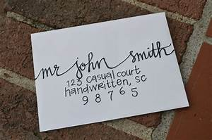 handwritten calligraphy for party or wedding invitations With should wedding invitations envelopes be handwritten