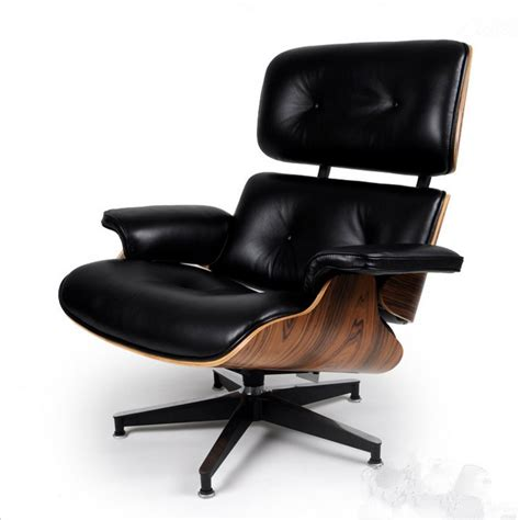 Wood And Leather Chair With Ottoman by Palisander Wood Eames Style Lounge Chair Ottoman Premium