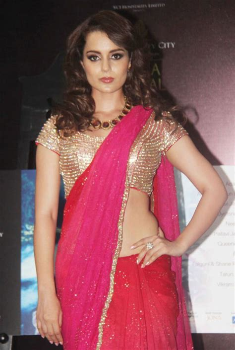 Kangana Ranaut In Black Saree