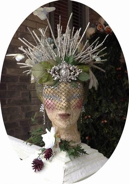 Headdress Christmas Tiara Countess Head Victorian Mannequin