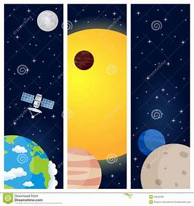 Solar System Planets Vertical Banners Stock Vector - Image ...