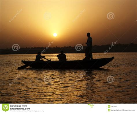 Three Men In A Boat Video In Hindi by Ganges Sunset Stock Photos Image 1810903