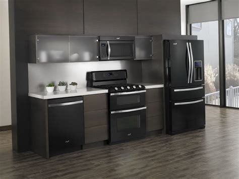 kitchen design black appliances white vs black vs stainless steel appliances 4399