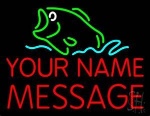 Custom Bass Fish Neon Sign Custom Neon Signs