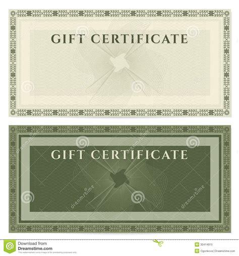 vintage voucher coupon template  border royalty